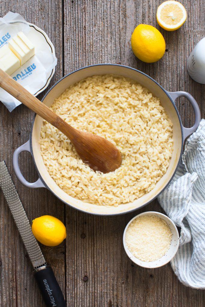 Making Meyer Lemon Risotto
