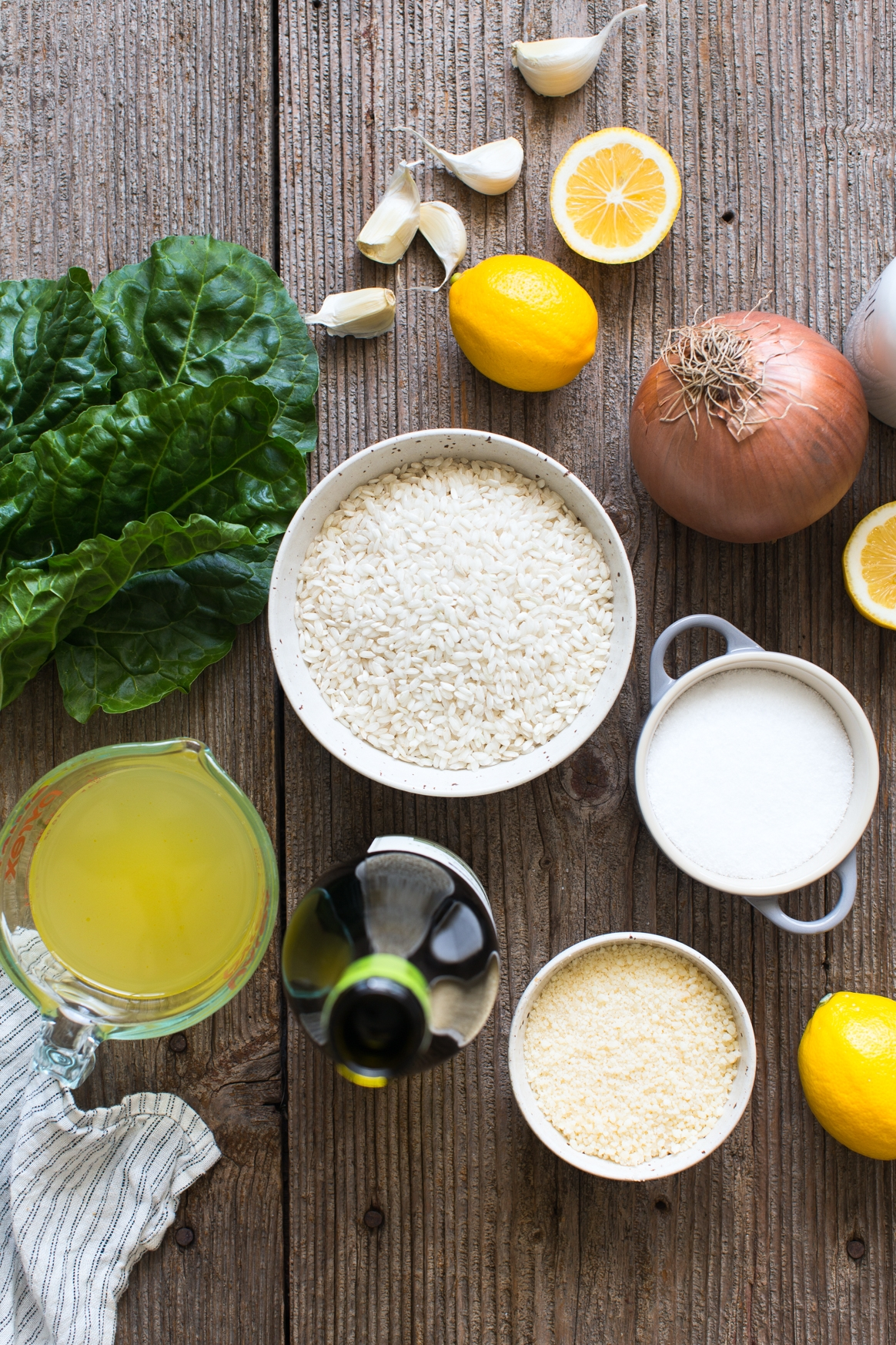 Meyer Lemon Risotto with Spicy Swiss Chard Ingredients