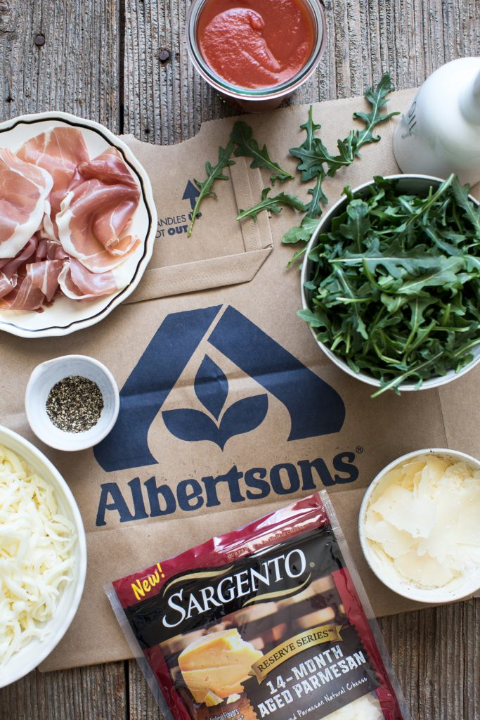 Arugula and Prosciutto Pizza Ingredients