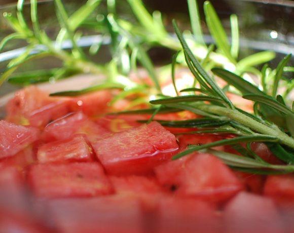 Watermelon rosemary infused vodka