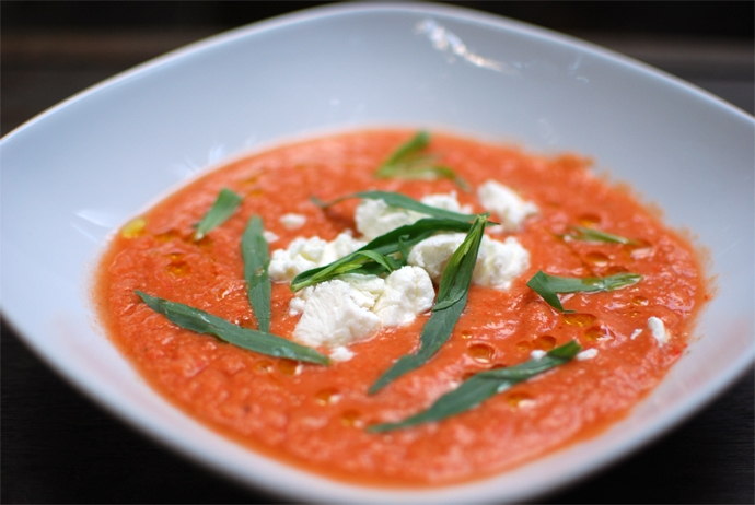 Cold Tomato and Tarragon Soup