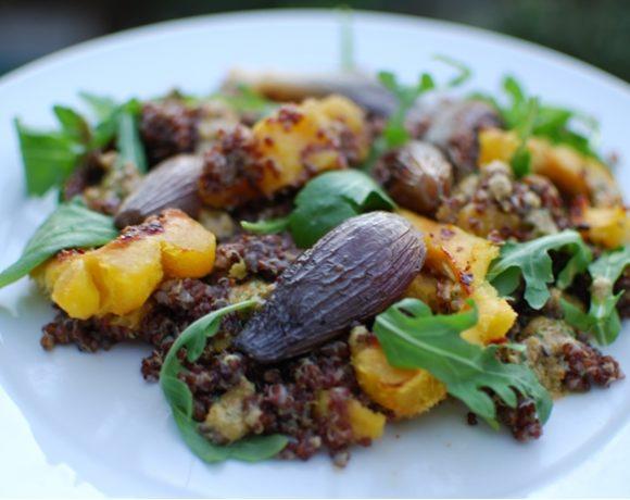 Red Quinoa and Roasted Acorn Squash Salad