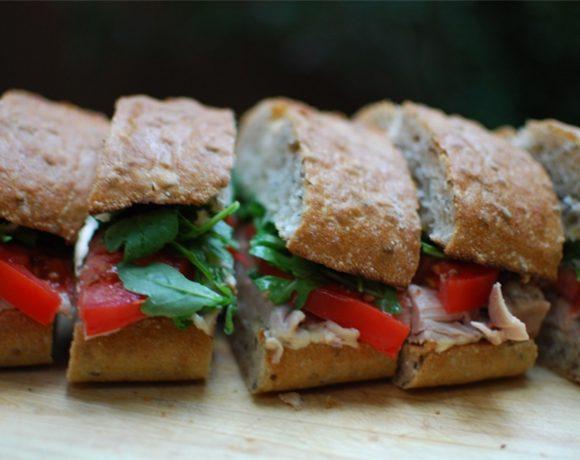 Rooasted Chicken Sandwich with Fennel Mustard