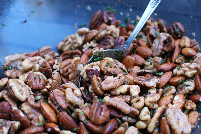Rosemary Spiced Mixed Nuts