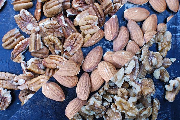 Pecans, Almonds, Walnuts