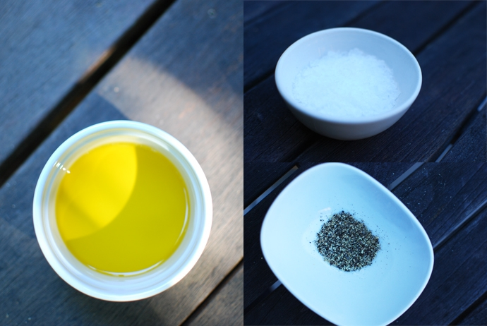 Extra-Virgin Olive Oil, Salt and Pepper