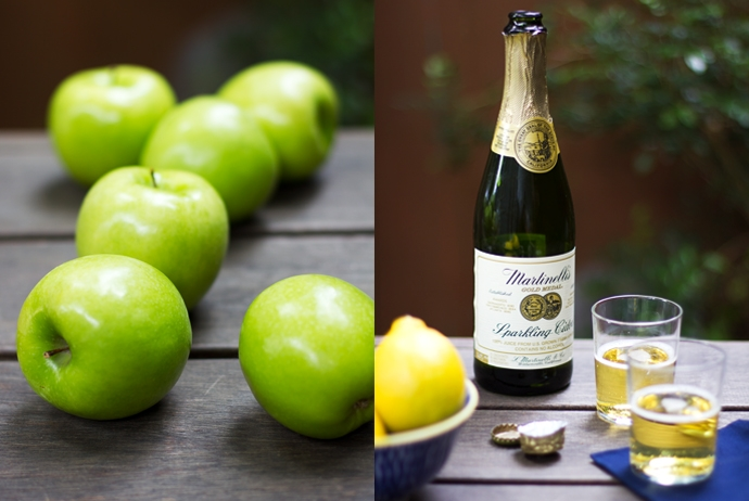 Green Apples, Lemons and Sparkling Cider