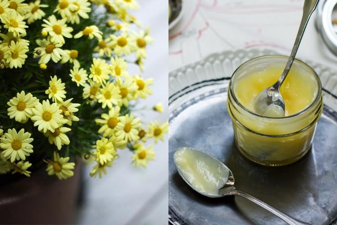 Meyer Lemon Curd and Flowers