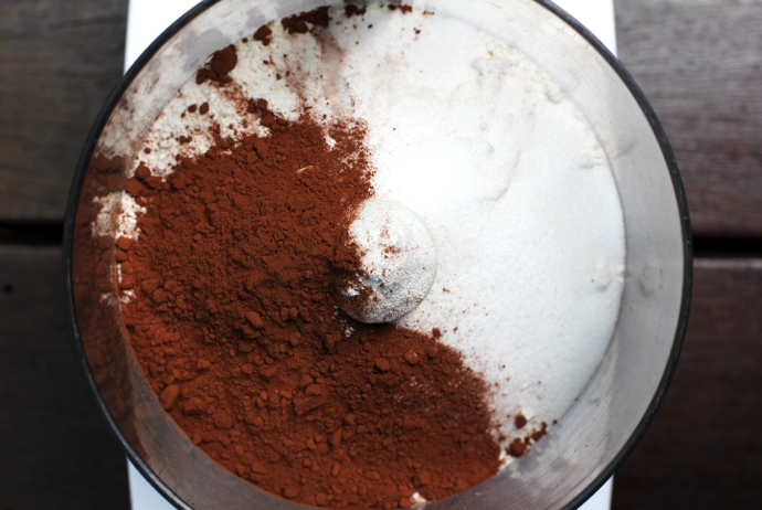 Cocoa Powder, Sugar, Flour