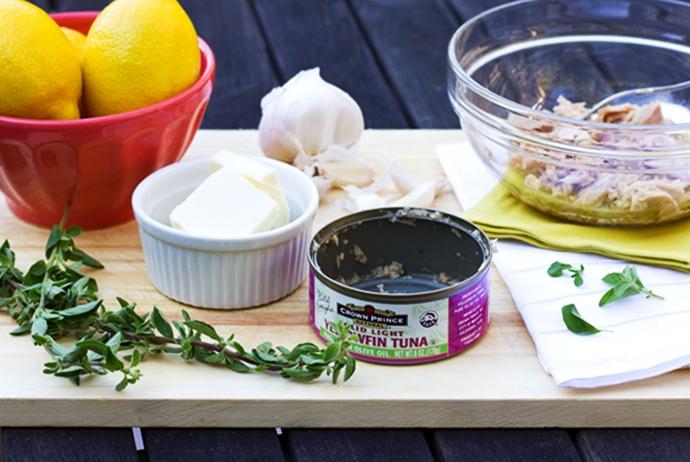 Oil Packed Tuna, Oregano, Garlic, Lemon and Butter