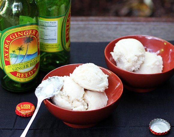 Ginger Beer, Coconut, Rum Sorbet