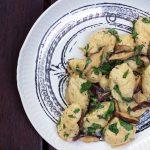 Ricotta Cheese Gnocchi with Mushroom Sauce
