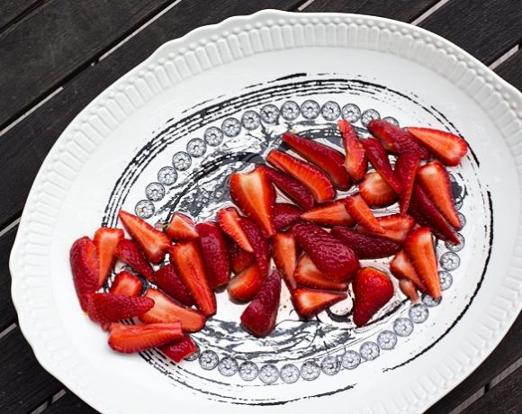 Strawberries in Lemon Syrup