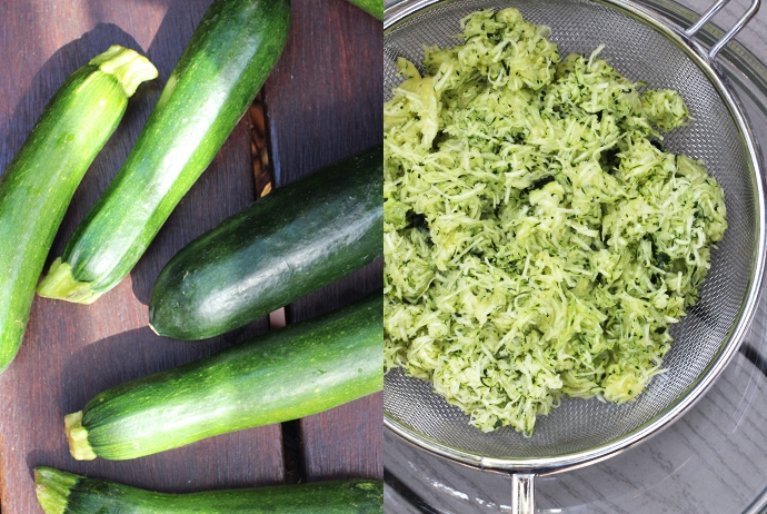 Zucchinis and Shredded Zucchini