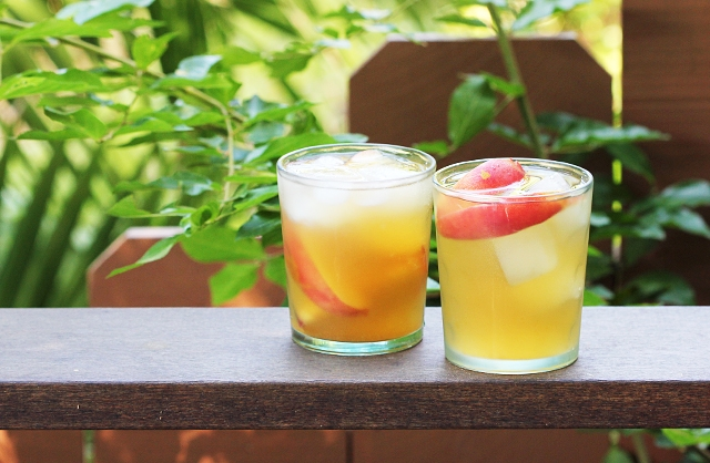 Peach Ginger Sangria