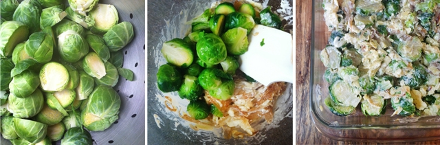 Brussels Sprouts and Caramelized Shallot Gratin
