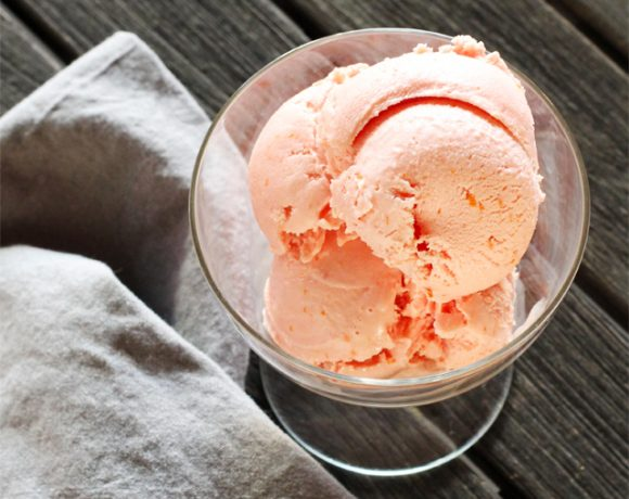 Blood Orange Frozen Yogurt