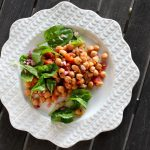 Braised Chickpeas with Spinach Salad