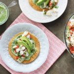 Ceviche Tostadas with Cilantro Cream