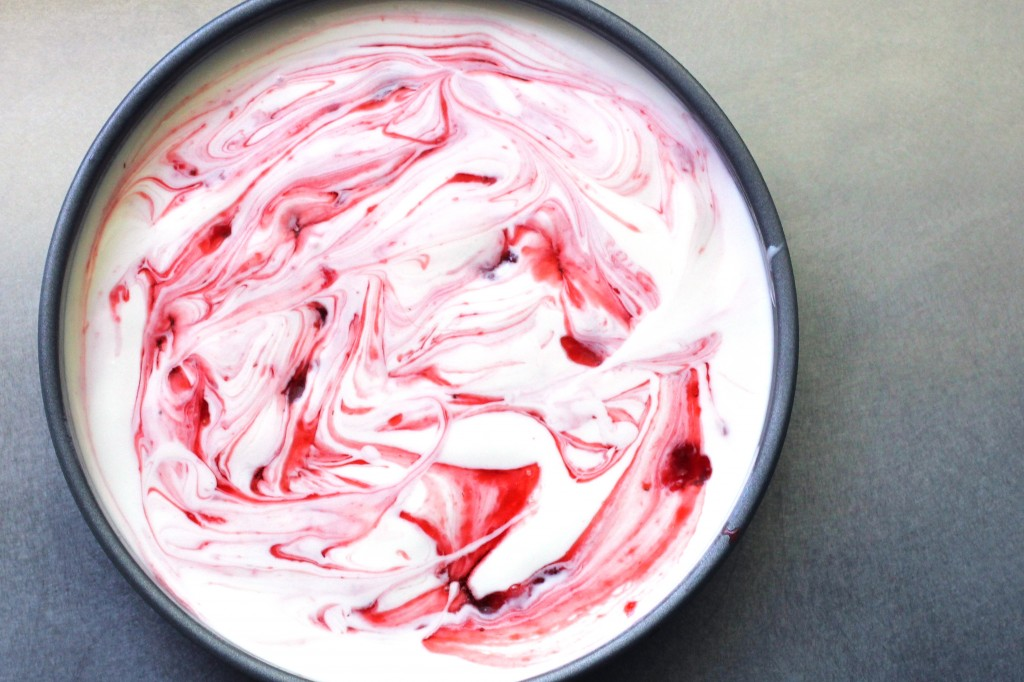 Strawberry Bourbon Sauce Swirl