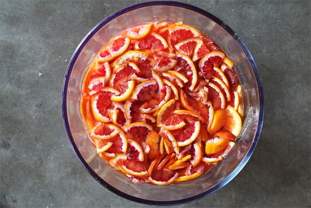 Making Blood Orange Marmalade