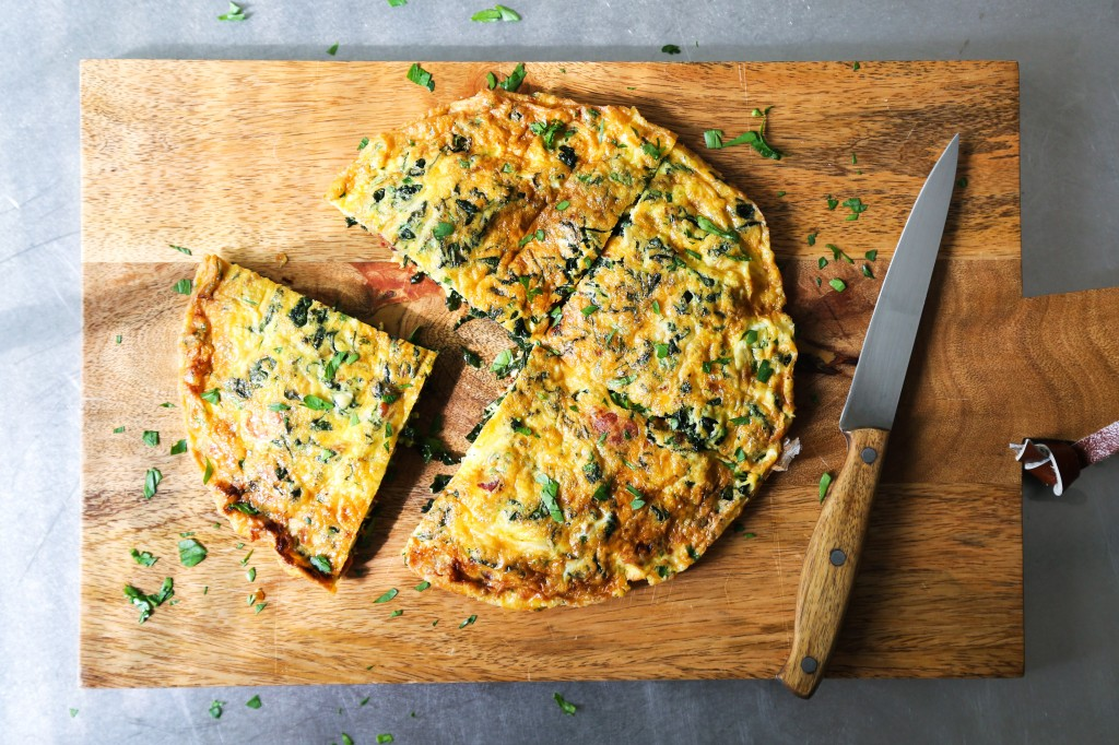 Kale and Bacon Frittata