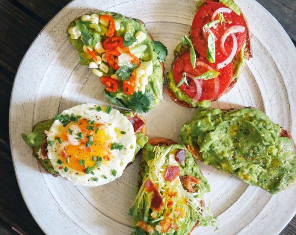 Avocado Toast 5 Ways