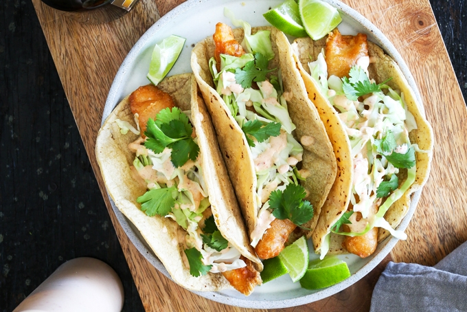 Crispy fish taco recipe the best fish taco in san diego for Good fish for fish tacos