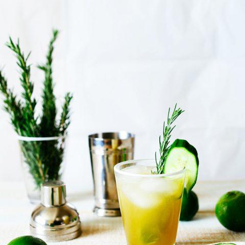 Cucumber Lime Zinger Cocktail