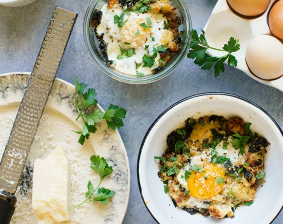 Stuffing Baked Eggs