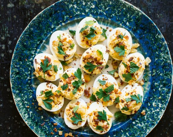 Falafel Spiced Deviled Eggs