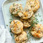Rye Biscuits with Gouda and Thyme