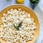 Brown Butter Rosemary Lemon Popcorn