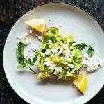 Marinated Zucchini and Feta Toast