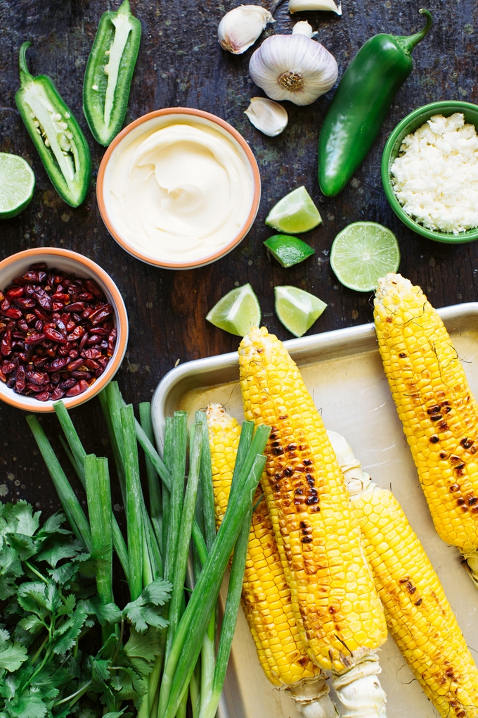 Mexican Grilled Corn Salad Ingredients