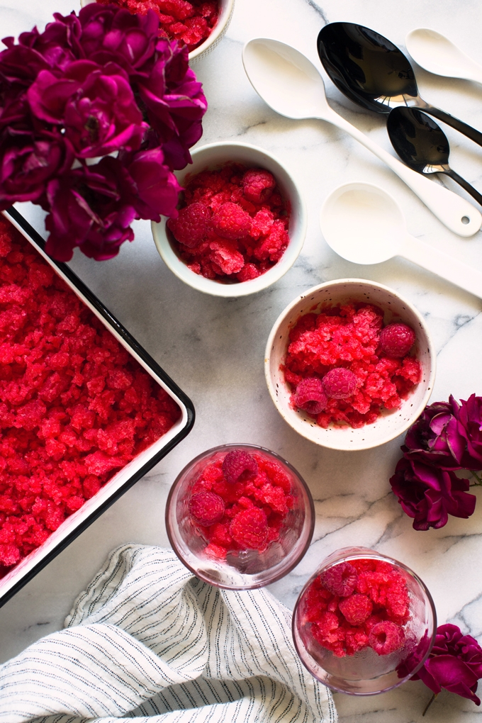 Raspberry Elderflower Granita Recipe
