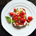 Tomato, Basil and Ricotta Toast