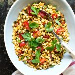 Warm Corn Salad with Bacon and Ramps
