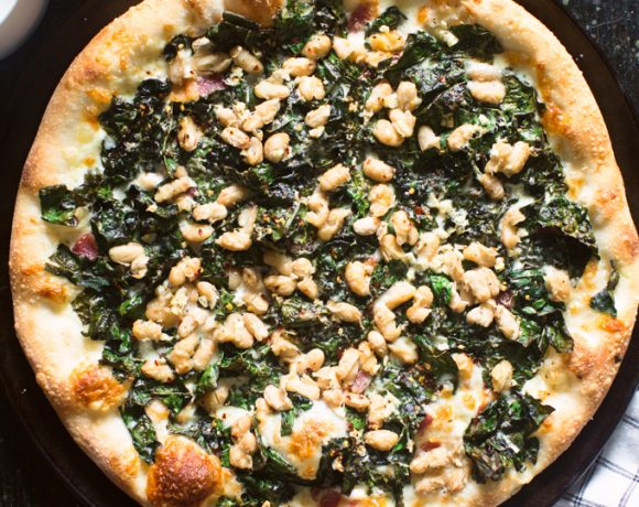 Kale and White Bean Pizza
