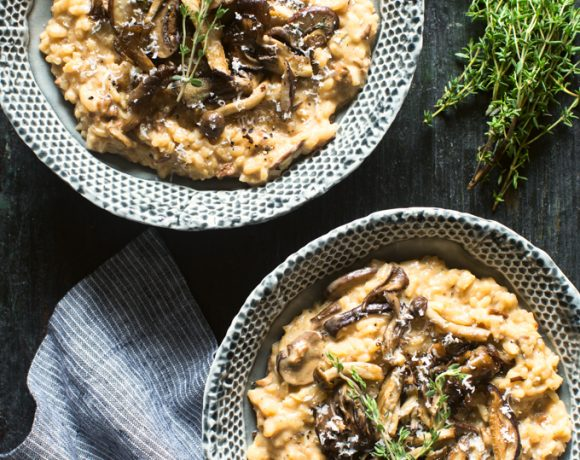 Wild Mushroom and Mascarpone Risotto