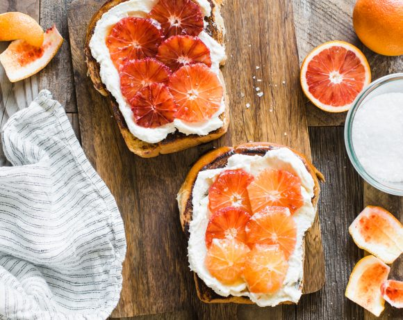 Blood Orange Ricotta Toast Recipe