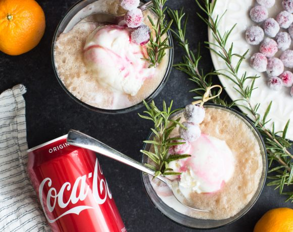 Sparkling Cranberry and Cola Ice Cream Float Recipe