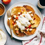 Cinnamon Pancakes with Apples and Meyer Lemon Whipped Cream
