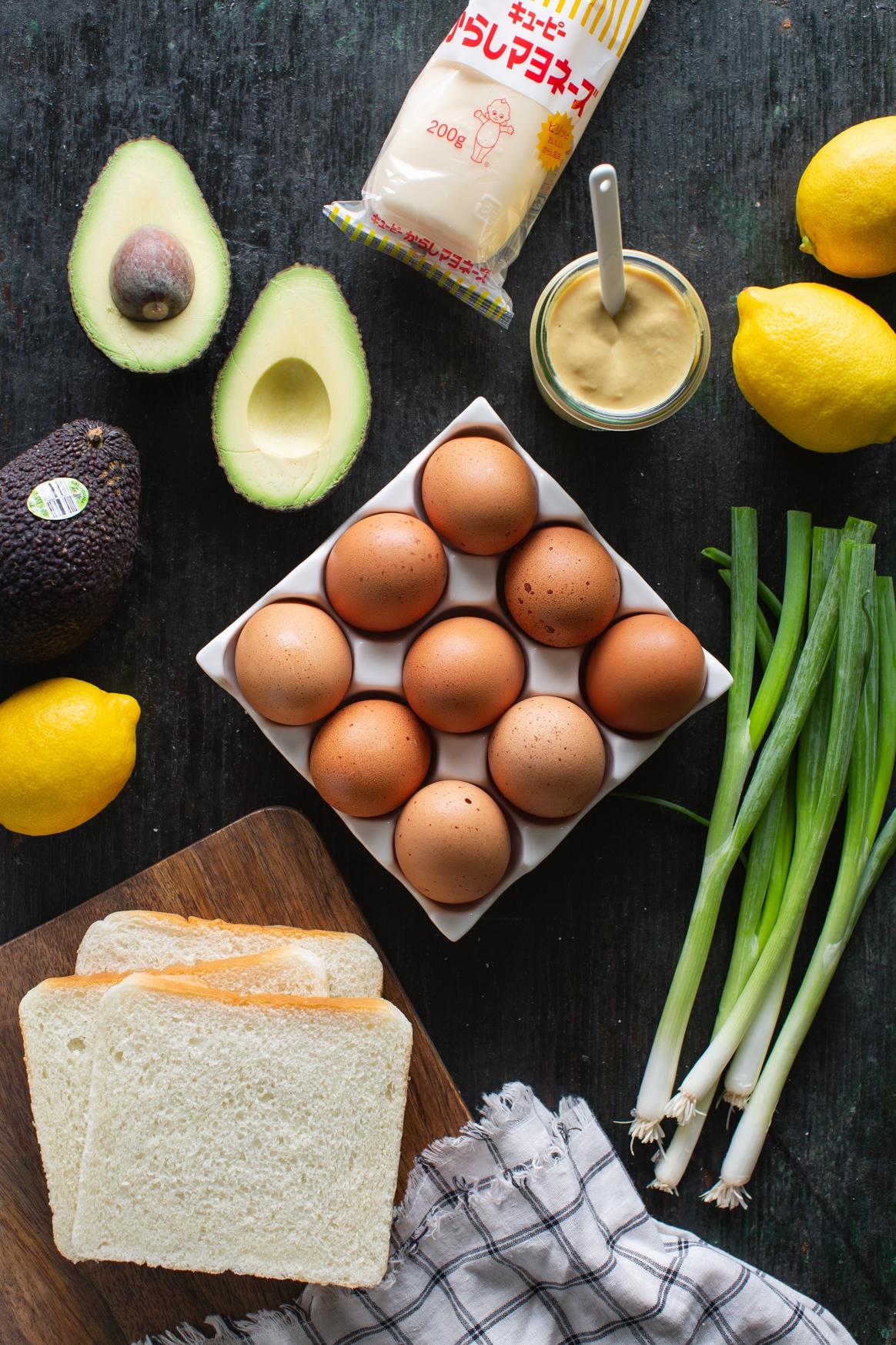 Avocado Egg Salad Sandwich Ingredients