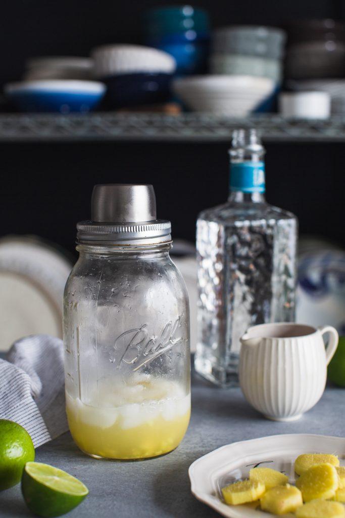 Making Ginger Margarita