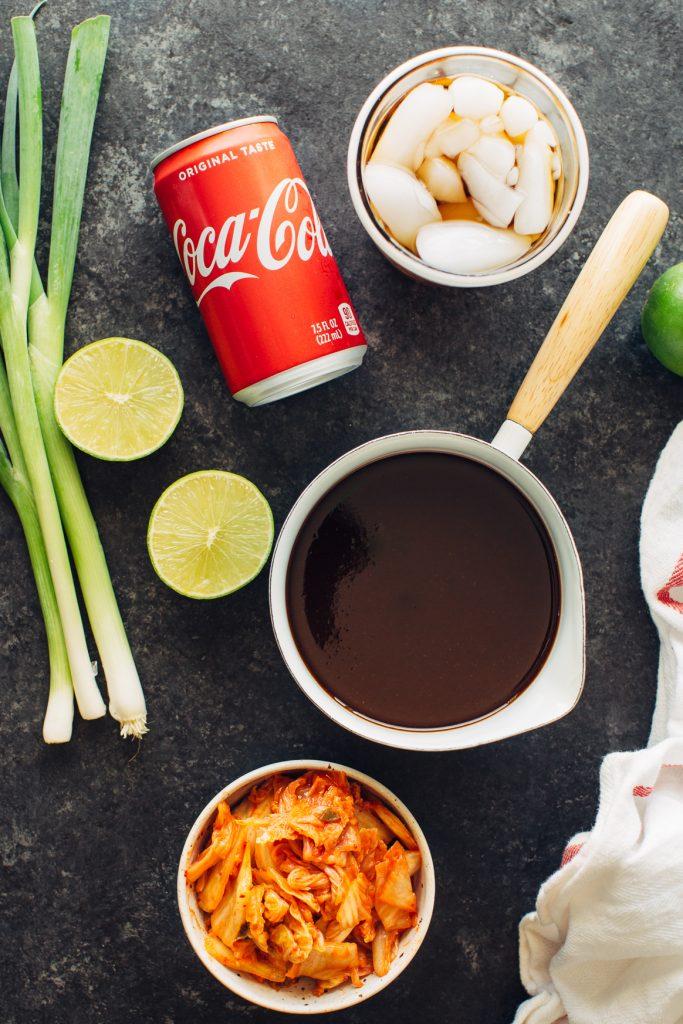 Cola and Kimchi Glaze