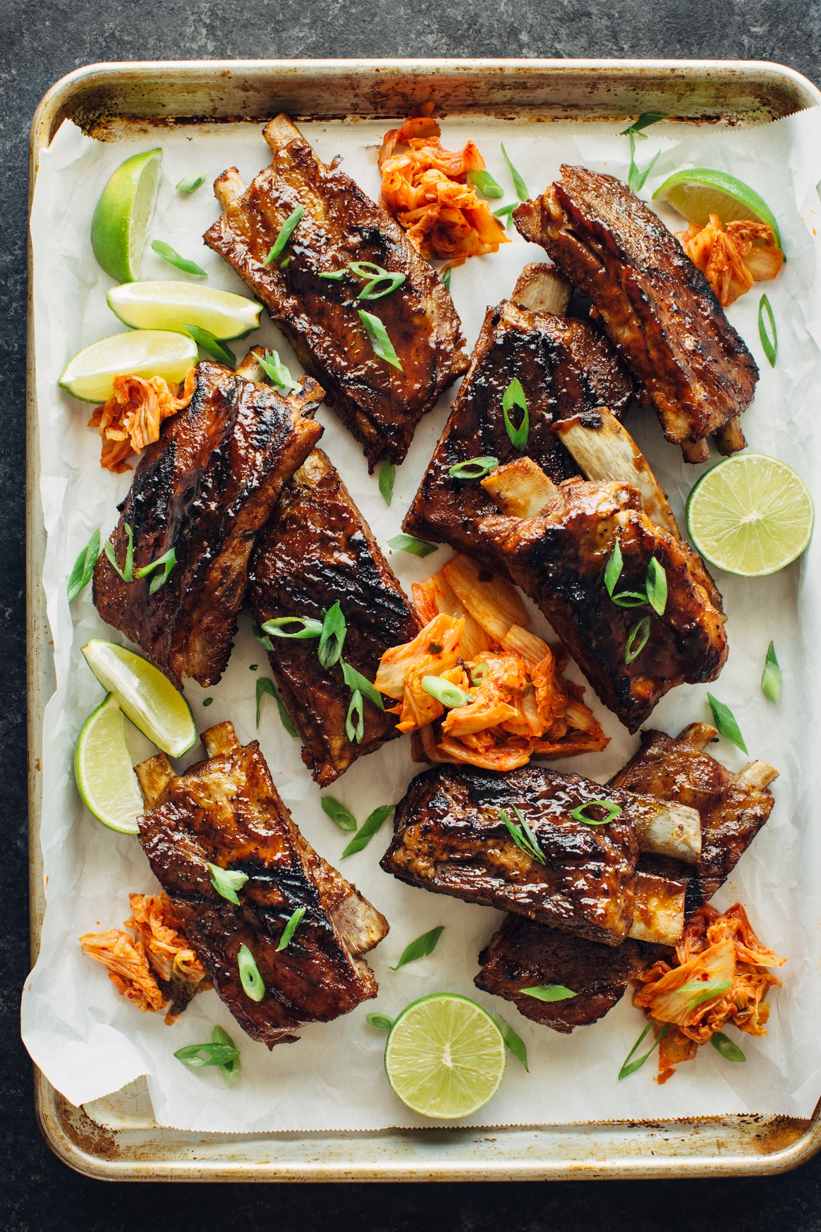 Cola and Kimchi Glazed Ribs Recipe