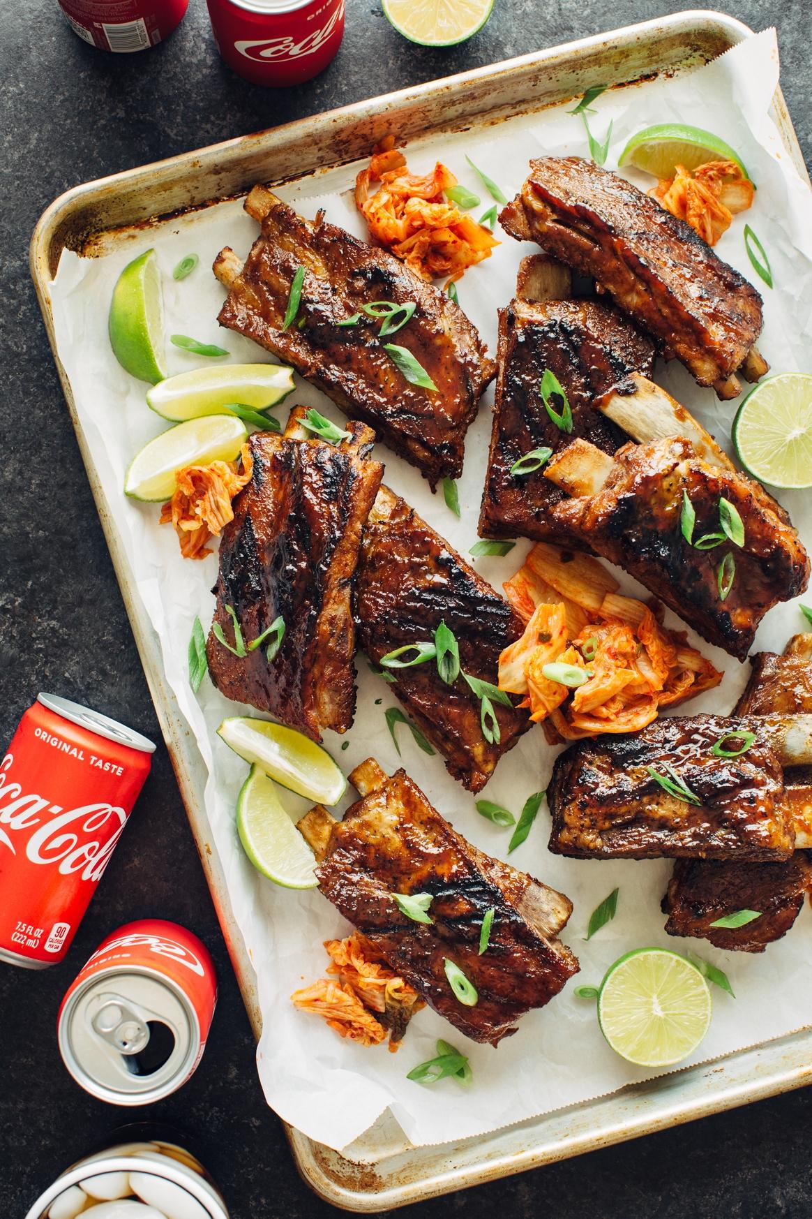 Cola and Kimchi Glazed Ribs