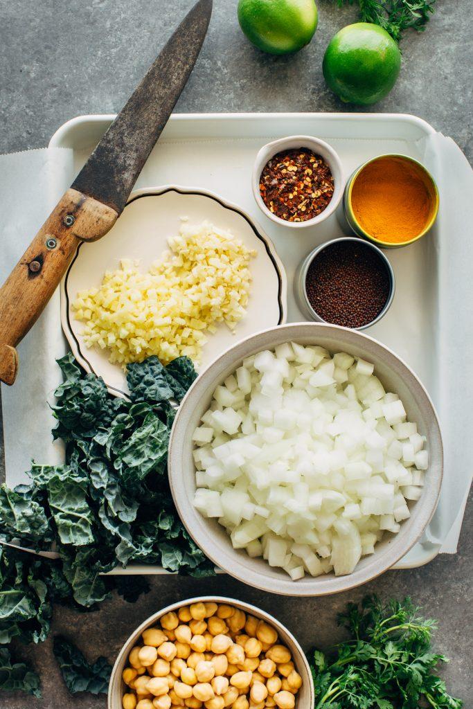 Spiced Chickpea Stew Prep