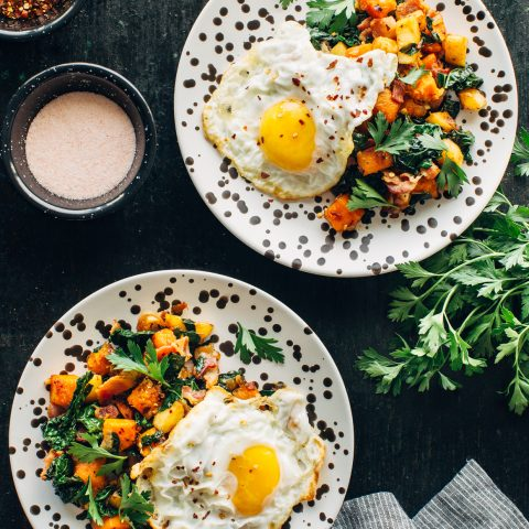 Butternut Squash and Bacon Hash